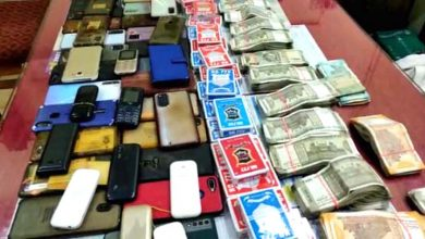 Photo of जुआ घर पर पुलिस की दबिश, लाखों रुपए जब्त