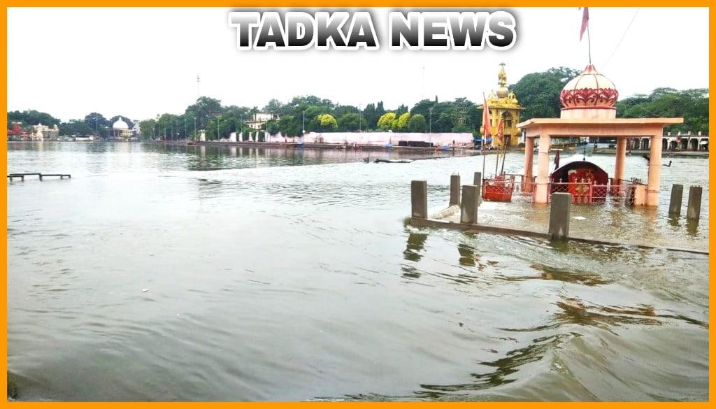 इंदौर में हुई बारिश से शिप्रा नदी उफान पर गंभीर डेम में आवक जारी