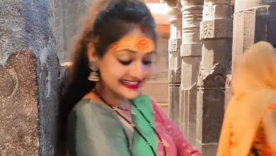 Woman made dance video on film song in Mahakal temple