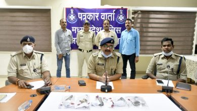 Three miscreants caught, country-made pistols confiscated